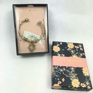 Lucky Brand Cute Gold Faceted Bangle